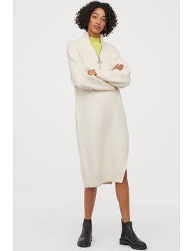 Yırtmaçlı Triko Elbise by H&M