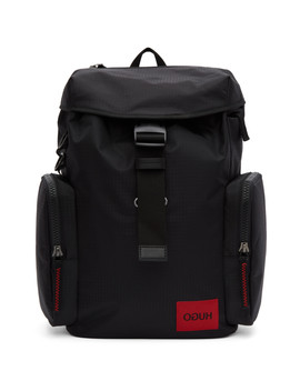 Black Kombinat Backpack by Hugo