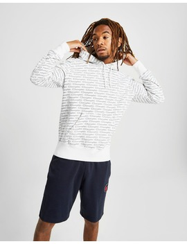 Champion All Over Print Script Hoodie by Champion
