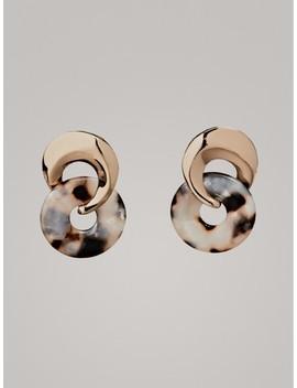 Boucles D'oreilles En AcÉtate Avec PiÈce De Monnaie by Massimo Dutti