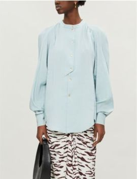 Marianne Pleated Cotton Blend Shirt by Rejina Pyo