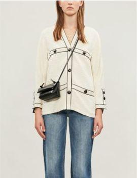 Tweed Style Cotton Jacket by Maje