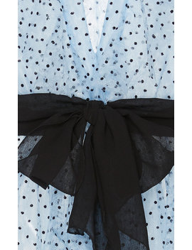 Ruffled Polka Dot Flocked Tulle Top by Philosophy Di Lorenzo Serafini