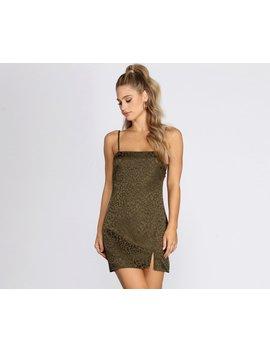 Satin Leopard Print Mini Dress by Windsor
