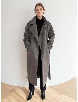 [Essential] Carmen Coat Warm Grey by Kindersalmon