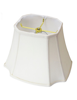 9x16x12 Square Cut Corner Lamp Shade Eggshell by Moretextile Group