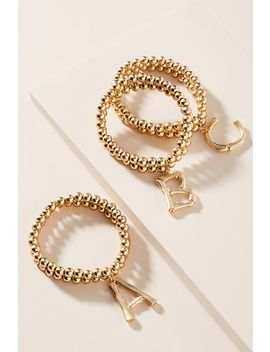 Monogram Beaded Bracelet by Anthropologie
