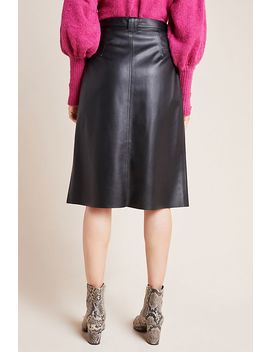 Marceline Faux Leather A Line Midi Skirt by Bailey 44
