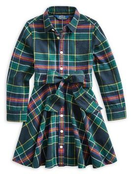 Little Girl's Plaid Cotton Shirtdress by Ralph Lauren Childrenswear