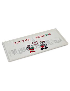 Mickey And Minnie Mouse Rectangular Holiday Platter | Shop Disney by Disney