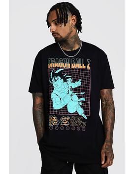 Oversized Dragonball Z T Shirt by Boohoo