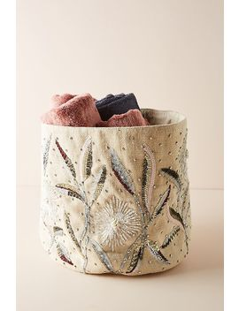 Mabel Floral Beaded Basket by Anthropologie