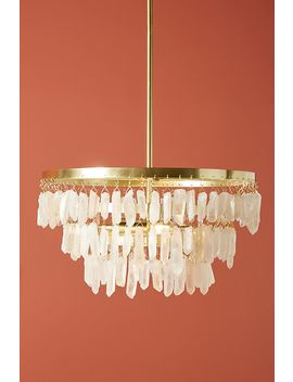 May Rose Quartz Chandelier by Anthropologie