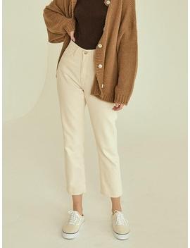 Plain Cotton Pants by Re L