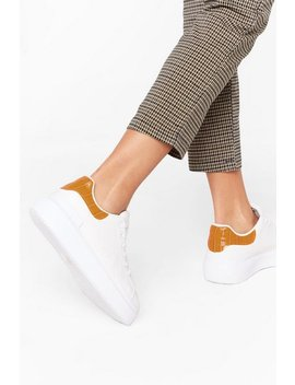 Sneaking Around Faux Leather Croc Sneakers by Nasty Gal