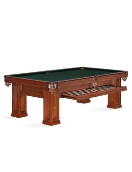 Oak Hill Billiards 8.3' Slate Pool Table by Brunswick Billiards