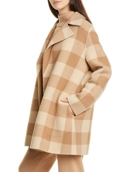 Buffalo Plaid Wool Coat by Theory