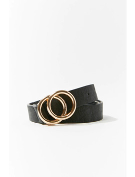 Faux Leather Skinny Waist Belt by Forever 21