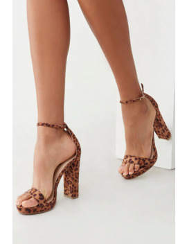 Faux Suede Leopard Heels by Forever 21