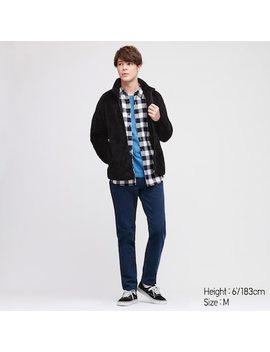 Men Fluffy Fleece Zipped Jacket (51) by Uniqlo