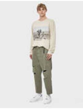 Loose Fit Trousers With Rips by Bershka