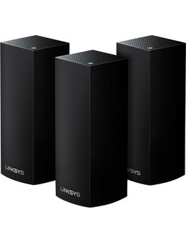 Velop Tri Band Mesh Wi Fi System (3 Pack)   Black by Linksys