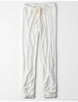 Ae Studio Tie Front Fleece Jogger by American Eagle Outfitters