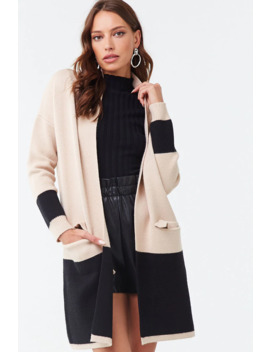 Colorblock Open Front Cardigan by Forever 21
