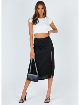 Motel Saika Skirt Satin Cheetah Black by Motel