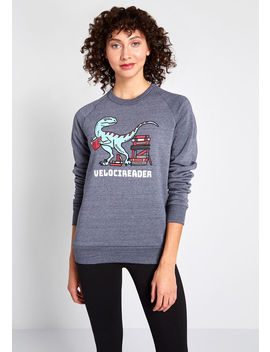 Velocireader Graphic Sweatshirt by Out Of Print