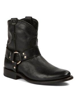 Black Wyatt Harness Short Leather Boot   Women by Frye