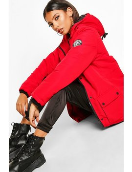Pocket Detail Technical Parka by Boohoo