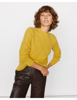 Lattice Stitch Crew Neck Jumper by Jigsaw