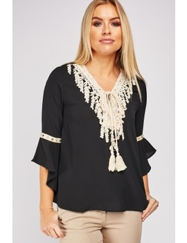 Tassel Front Blouse by Everything5 Pounds