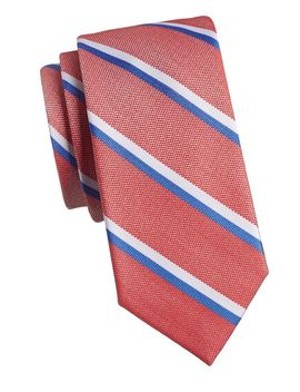 Stripe Silk Blend Tie by Tommy Hilfiger