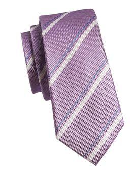 Striped Silk Tie by Black Brown 1826