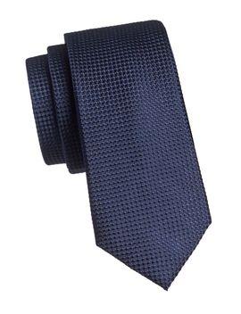 Textured Silk Tie by Black Brown 1826