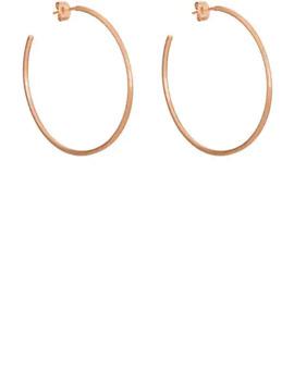 Rose Gold Hoop Earrings by Tate