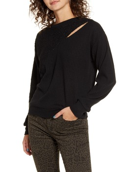 Mixed Media Sweater by Socialite