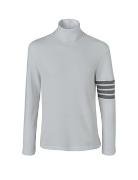 4 Bar Cotton Turtle Neck Jumper by Thom Browne