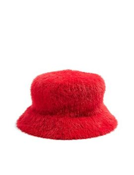 Fluffy Bucket Hat by Topshop