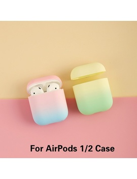 Gradient Color Hard Pc Earphone Case For Apple Airpods Shockproof Cover With Hook For Airpods Case For Airpod Shell Box by Wish