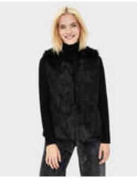 Faux Fur Waistcoat by Bershka
