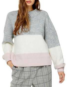 Colourblock Stripe Sweater by Topshop