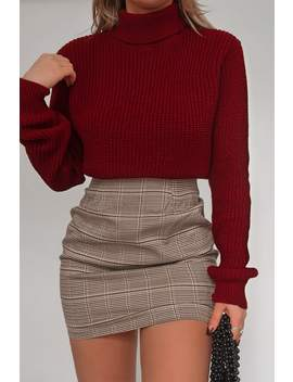 Fashion Influx Brown Heritage Check Mini Skirt by In The Style