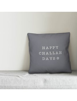 Dundee Happy Challah Days Throw Pillow by The Holiday Aisle