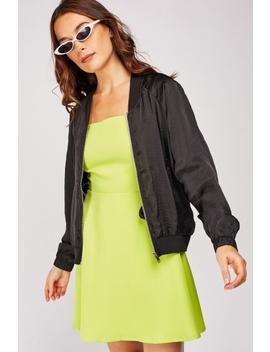 Silky Light Bomber Jacket by Everything5 Pounds