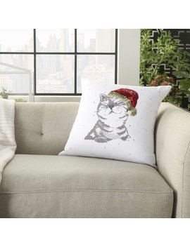 Sturm Cat Cotton Throw Pillow by The Holiday Aisle