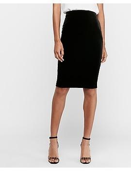 High Waisted Velvet Pencil Skirt by Express