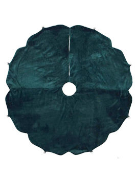 """Green Velvet Tree Skirt, 48""""Green Velvet Tree Skirt, 48"""" by At Home"""